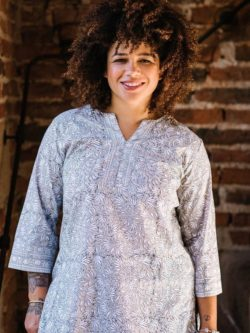 Desert Lily organic cotton tunic