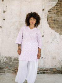Munnar Violet organic cotton tunic