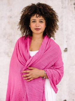 Pink Khadi Cotton Wrap