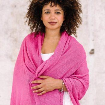 Pink Khadi Cotton Wrap