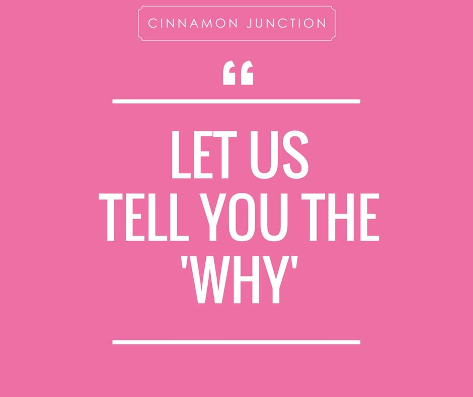 Image of Let Us Tell You The Why, white letters on a pink background