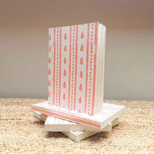Jaipur Pink recycled cotton paper notebook
